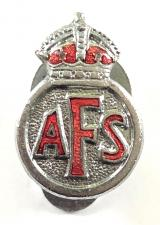 Auxiliary Fire Service AFS miniature lapel badge