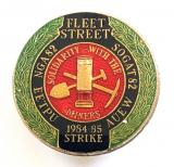 NUM Fleet Street Solidarity With The Miners 1984-1985 strike badge