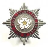 West Riding County Fire Service firemans cap badge 1948 to 1974