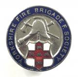 Yorkshire Fire Brigade Friendly Society membership firemans badge