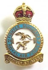 RAF No 29 Battle of Britain Squadron Royal Air Force badge