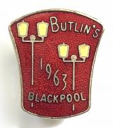 Butlins 1963 Blackpool holiday camp illuminations badge