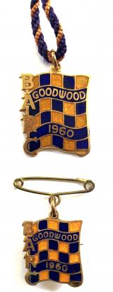 British Automobile Racing Club BARC Goodwood 1960 badges