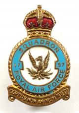 RAF No 57 Reconnaissance Squadron Royal Air Force badge circa 1940's
