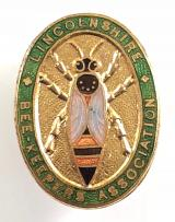 Lincolnshire Beekeepers Association membership badge circa 1940's