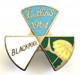 Butlins 1964 Blackpool holiday camp three triangle badge