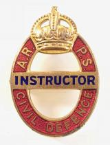 WW2 Air Raid Precaution School ARPS Civil Defence Instructor badge