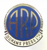 WW2 Odhams Press Ltd ARP Air Raid Precaution badge