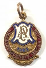 1901 Alexandra Park horse racing club badge