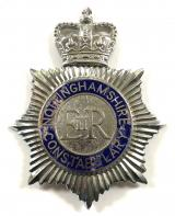 Nottinghamshire Constabulary police helmet badge c1953 to 1968
