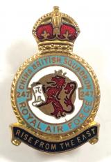 RAF No 247 Battle of Britain Squadron Royal Air Force Badge c1940