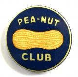 WW2 PEA-NUT CLUB fundraising celluloid tin button badge Guinea Pig Club RAF related