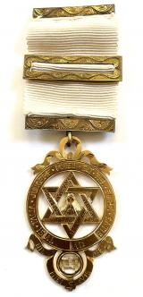 Royal Arch Chapter Masonic Victorian silver gilt jewel
