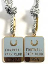 1998 Fontwell Park Club horse racing badges consecutive numbers