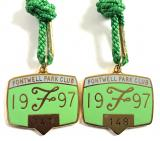 1997 Fontwell Park Club horse racing badges consecutive numbers