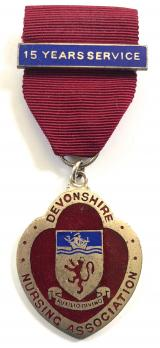 Devonshire Nursing Association badge 15 years service clasp