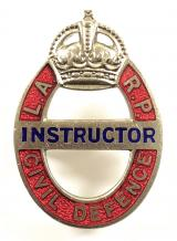 WW2 Local Air Raid Precautions LARP Civil Defence instructor badge