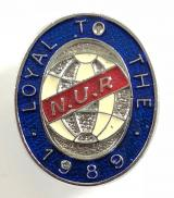 National Union of Railwaymen 1989 national strike NUR badge