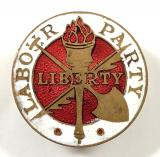 Labour Party Membership trade union pin badge circa 1945 to 1954