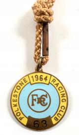 1964 Folkestone horse racing club badge