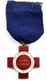 London County Council LCC home nursing badge