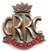 Goodwood Road Racing Club GRRC 2014 member badge
