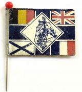 WW1 RSPCA Union Jack Day 'For Sick and Wounded Horses flag day fund badge