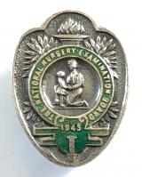 National Nursery Examination Board silver plated badge