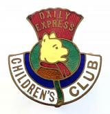 Scottish Daily Express newspaper Rupert Bear children's club badge