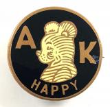 A K Happy Bear News Chronicle children's club badge