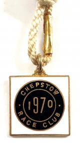 1970 Chepstow Race Club horse racing badge