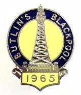 Butlins 1965 Blackpool holiday camp tower badge