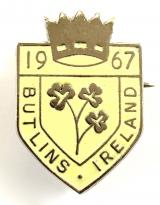 Butlins 1967 Mosney Ireland holiday camp shamrock badge