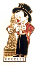 Doodles the Clown Blackpool Tower Circus character badge c1930s