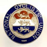 National Cyclists Union 1898 silver hallmarked lapel badge