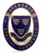 WW1 Shrewsbury Special Constable police badge