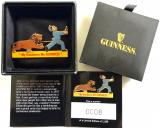 Guinness & Co Limited Edition badge Lion Chasing Zoo Keeper