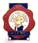 Teddy Tail League Daily Mail cartoon mouse children's club badge
