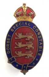 WW1 Dorset Special Constable police badge