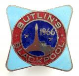 Butlins 1966 Blackpool holiday camp tower badge