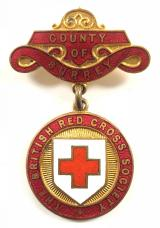 British Red Cross Society County of Surrey nursing badge E.Henley-Colgate