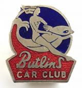 Butlins holiday camp motor Car Club pin badge circa 1950's