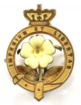 Primrose League badge ladies Victorian pin brooch