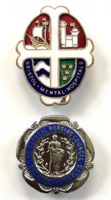 Bristol Mental Hospitals nurse and RMN qualification badge