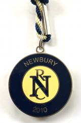 Newbury Racecourse 2010 horse racing club membership badge