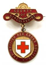British Red Cross Society County of Lincolnshire nurses badge