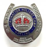 Coronation Holiday Camp Hayling Island Hampshire lucky horeshoe badge