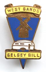 West Sands Selsey Bill caravan park badge