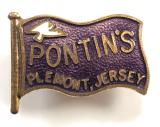 Pontins Plemont Jersey Holiday Village flag badge circa 1960's
