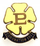 Primrose League associates coronation 1911 badge